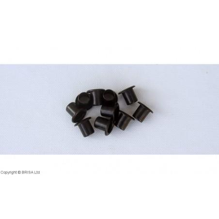 Kydex akutės (kniedės) juodos 8x4,6mm / 10 pcs