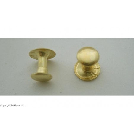 Kniedė Brass 7x7mm / 100 vnt