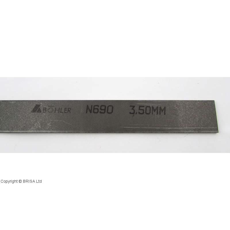 Plienas geležtėms N690 3,5x50x500mm