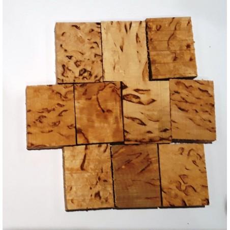 Mediena tarpinei Curly birch (karpotasis beržas )