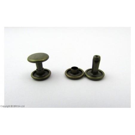 Kniedė double cap Antique 9x9mm / 100 vnt
