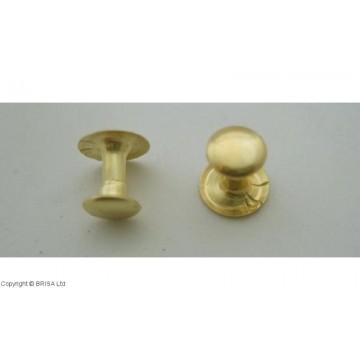 Kniedė Brass 7x7mm / 100 vnt