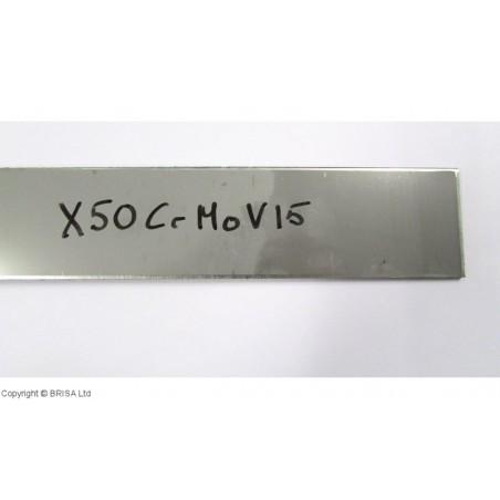 Plienas geležtėms X50CrMoV15 3x50x500 mm
