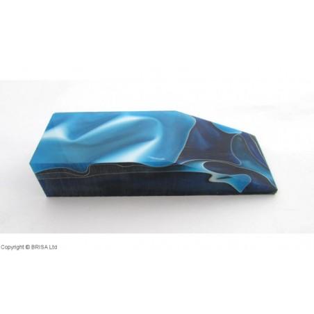 Akrilas mėlynas/baltas vandenyno banga