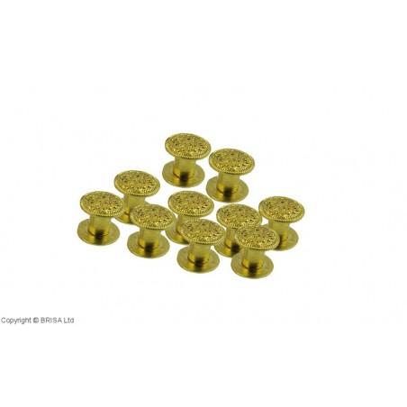 Kniedė Concho Rivets Gold 10x6 / 10