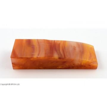 Akrilas oranžinis/perlas