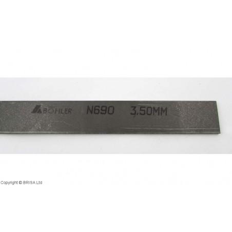 Plienas geležtėms N690 2,5x50x250mm