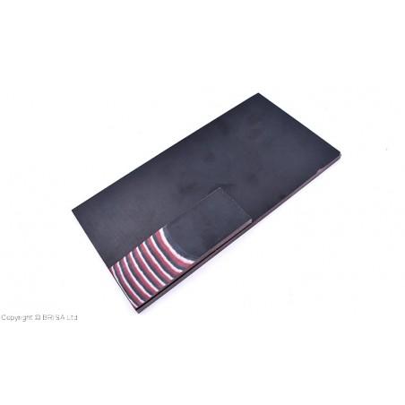 Medvilnės pluoštinys (Micarta) Red & Black & Stone